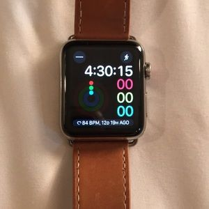 Apple Watch series 3, 42mm stainless steel
